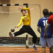 Handball team man goalie ball — Stock Photo