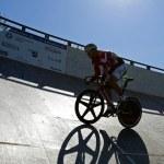 Cycling track shadow sun — Stock Photo #44945549