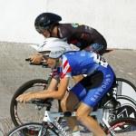 Track cyclists race — Stock Photo #44945795
