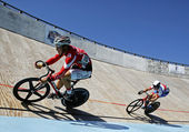 Two track cyclists — Stock Photo
