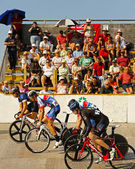 Cycling track start race — Stock Photo