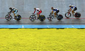 Four track cyclists — Stock Photo