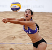 Beach Volleyball Woman Mexico Ball — Stock Photo