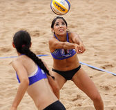 Beach Volleyball Woman Mexico Pass Ball — Stock Photo