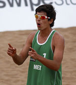 Beach Volleyball Man Mexico Cheer — Stock Photo
