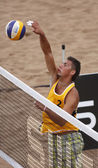Poland Beach Volleyball Man Net Ball — Stock Photo
