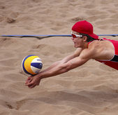Canada Beach Volleyball Man Ball Arms — Stock Photo