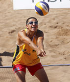 USA Beach Volleyball Man Ball — Stock Photo