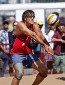 Austria Beach Volleyball Man Ball — Stock Photo