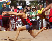 Austria Beach Volleyball Man Arms Legs — Stock Photo