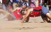 Austria Beach Volleyball Men Players — Stock Photo