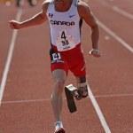 Постер, плакат: Canada Paralympic Amputee Sprinter Earle Connor Runs