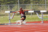 Track Steeplechase Canada Water — Stock Photo