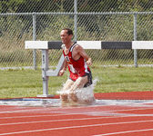 Steeplechase Canada Water Masters Man — Stock Photo