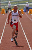 Canada Paralympic Amputee Sprinter Earle Connor Races — Stock Photo