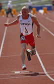 Canada Paralympic Amputee Sprinter Earle Connor Runs — Stock Photo