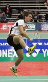 Badminton brazil player racket — Stock Photo