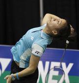 Giocatore di badminton belgio donna — Foto Stock