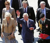 Prince Charles Waves Saint John — Stock Photo