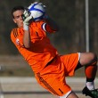 Постер, плакат: Canada soccer orange keeper save ball