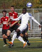 Canada soccer ball air quebec player — Stock Photo