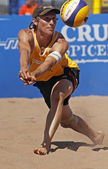 Beach volleyball germany ball — Stockfoto