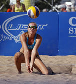 Beach volleyball kazakhstan — Stockfoto