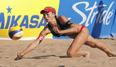 Beach volleyball switzerland ball — 图库照片