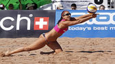Beach volleyball canada woman — Stok fotoğraf