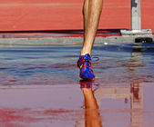Steeplechase Track Water Foot — Stock Photo