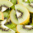Sliced  kiwi background - Stockfoto
