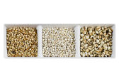 Grains over white — Stock Photo