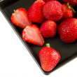 Strawberry on dish — Stock Photo