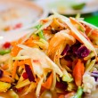 Spicy papaya salad - Stock Photo