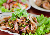 Pork dish thai food — Stock Photo