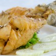 Close up  fried fish — Foto de Stock