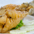Close up  fried fish — Foto Stock