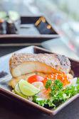 Salad and fish — Stock Photo