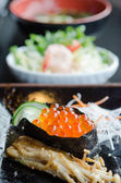 Salmon roe sushi — Stock Photo