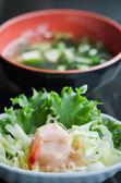 Shrimp salad — 图库照片