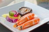 Shrimps seafood — Stock Photo