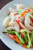 Piatto di calamari piccanti — Foto Stock