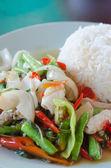 Spicy squid — Stock Photo