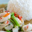 Squid and rice — Stock Photo