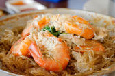 Shrimp and vermicelli — Stock Photo