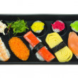 Top view sushi — Stock Photo