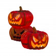 Three halloween pumpkin — Stock Photo