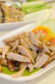 Grilled pork on dish — Stock Photo