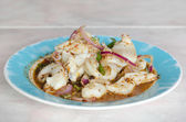 Spicy squid salad — Stock Photo