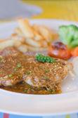 Close up beef steak — Stock Photo